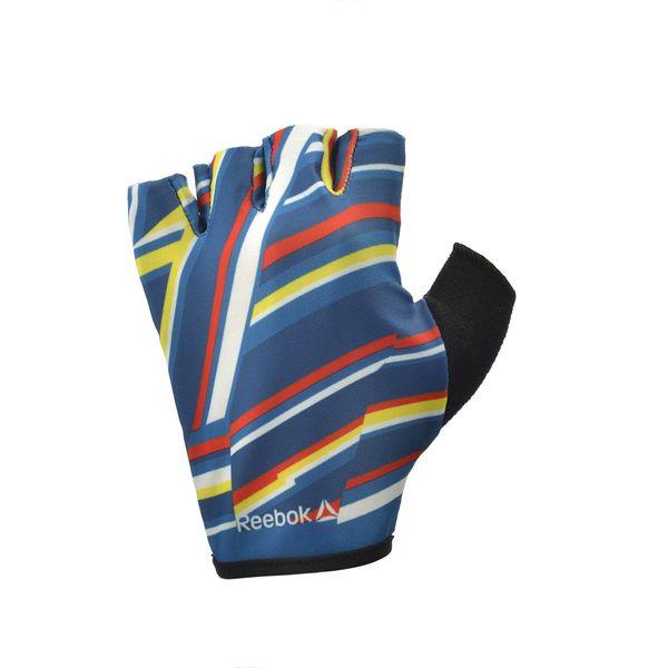 Женские перчатки для фитнеса Reebok (без пальцев, цветные) ReebokПерчатки для фитнеса<br>Женские перчатки для фитнеса Reebok сделаны из &amp;laquo;дышащего&amp;raquo; противоскользящего материала, который позволяет сохранять руки сухими на протяжении всей тренировки, при этом обеспечивая лучший захват.&amp;nbsp;<br>