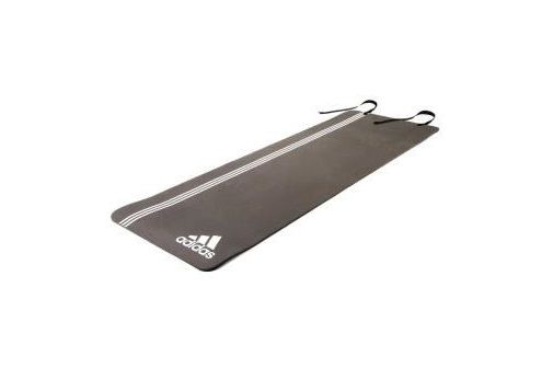 Тренировочный коврик (мат) для фитнеса Adidas Elite, белый логотип AdidasКоврики для йоги<br>Главная роль спортивного мата - обеспечивать комфорт и удобство выполнения упражнений на полу, и тренировочный мат adidas Elite отлично справляется с этой задачей! Мат Elite толщиной 8мм обеспечивает мягкую упругую поддержку Вашим рукам, ступням и коленям при любых тренировках. Мат сворачивается в компактный ролик, занимает мало места и очень удобен для переноски в спортивной сумке. Дизайн с тремя полосками не только узнаваем, но и имеет практическое применение на мате Elite - полосы могут быть использованы как направляющие линии для отстройки поз при растяжке и силовых упражнениях. Мат имеет длину 173см, необходимую для движений лёжа, и он достаточно мягок для силовых упражнений.<br>
