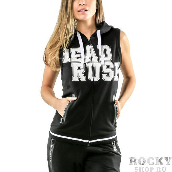 Женская кофта безрукавка Headrush R.F.L. Crop HeadrushТолстовки / Олимпийки<br>Женская кофта без рукавов Headrush R. F. L. Crop. На кофте присутствуют: Карманы и капюшон. Кофта застёгивается на молнию. Состав: хлопок и полиэстер.<br><br>Размер INT: XS