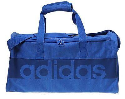 Купить Сумка спортивная Tiro 17 Linear Teambag M синяя Adidas (арт. 15415)