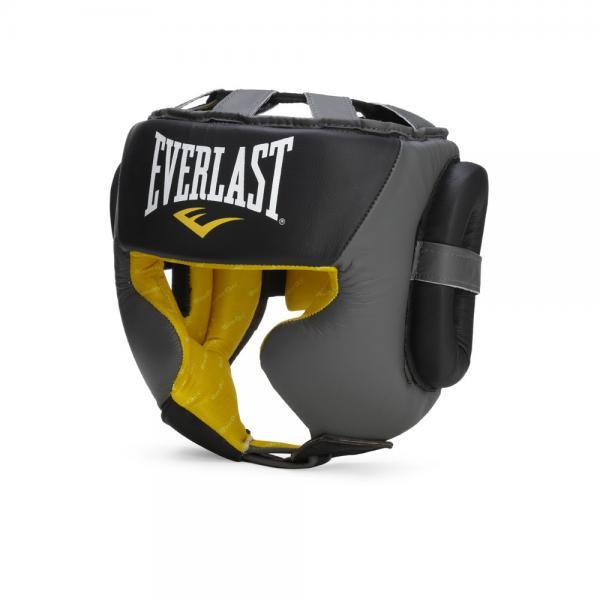 Шлем Everlast Sparring EverlastБоксерские шлемы<br>Everlast C3 Professional Sparring Headgear - надежный боксерский шлем с повышенной защитой зон щек и ушей. Изготовлен с применением уникального пенистого наполнителя C3 Foam™, который супер смягчает даже самые тяжелые удары. Внутренний слой защиты EverDri™ энергично сражается с потом, убирая все излишки воды. Благодаря высокопрочной застежке-липучке на затылке и шнуровке сверху, шлем подгоняется под необходимый размер и надежно фиксируется на голове. Изготовлен из высококачественной 100% кожи, что гарантирует высокий запас долговечности и отличную долговечность. C3 Professional Sparring Headgear - превосходный выбор как для начинающих атлетов, так и для профессионалов!<br>