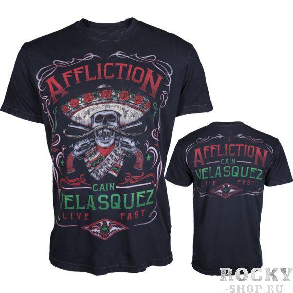Футболка Affliction Cain Velasquez UFC 188 AfflictionФутболки / Майки / Поло<br>Футболка Affliction Cain Velasquez UFC 188. Официальная футболка Кейна Веласкеса от Affliction, в которой он выходил на бой в турнире UFC 188. Так же необходимо отметить, что на футболке напечатаны автограф Кейна Веласкеса. Футболка Cain Velasquez имеет стандартные для Affliction качества: - Высококачественный хлопок. - Потрясающая прорисовка всех деталей на рисунках. - Использование только экологически чистых красок. Made in USA. Состав: 100% хлопок. Уход: машинная стирка, не гладить, деликатный отжим.<br><br>Размер INT: XL