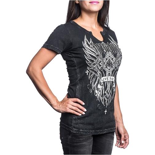 Купить Женская футболка Affliction WidowMaker (арт. 15551)