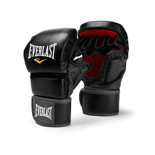Перчатки MMA Everlast Striking, Черные, Черный EverlastПерчатки MMA<br>Тренировочные перчатки для тренировочного боя, отработки ударов и проработки в партере. Ключевые особенности:Высококачественная искусственная кожа обеспечивает износостойкость и функциональность перчаток. Обмотки с застежкой на липучке позволяют кастомизировать перчатки по вашей руке, а также обеспечивают самую высокую фиксацию предплечья. Улучшенный дизайн усиливает долговечность и функциональность, в то время облегчая использование перчаток.<br><br>Размер: S/M