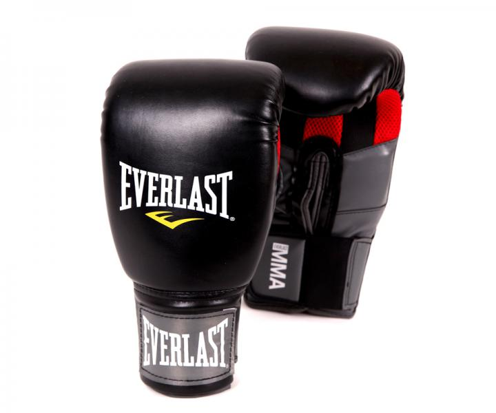 Перчатки боксерские Everlast Clinch Strike. EverlastПерчатки MMA<br>Перчатки для занятий по MMA (Смешанным Боевым Искусствам), позволяющие отработать технику захватов. Ключевые особенности:Технология Evergrip ™ позволяет вам безболезненно провести захват или войти в клинч с противником. Высококачественная искусственная кожа совместно с наилучшим дизайном обеспечивают износостойкость и функциональность перчаток.<br>