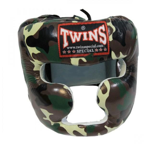 Шлем боксерский Twins FHG-JG, XL  Twins SpecialБоксерские шлемы<br>Шлем от Twins – надежно защищает виски, уши, подбородок. Эргономичные вырезы обеспечивают хорошую видимость. Стильный дизайн, очень легкий.- Улучшенная плотность контурной пены для предотвращения черепно-мозговой травмы- Надежно защищает щеки, уши, подбородок- Натуральная кожа- Ручная работа- Производство – Таиланд<br>