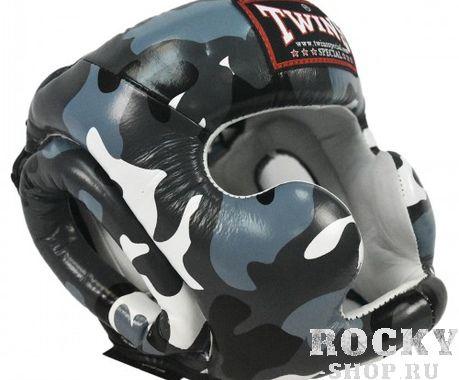 Шлем боксерский Twins FHG-UG, L  Twins SpecialБоксерские шлемы<br>Шлем от Twins – надежно защищает виски, уши, подбородок. Эргономичные вырезы обеспечивают хорошую видимость. Стильный дизайн, очень легкий. - Улучшенная плотность контурной пены для предотвращения черепно-мозговой травмы- Надежно защищает щеки, уши, подбородок- Натуральная кожа- Ручная работа- Производство – Таиланд<br>