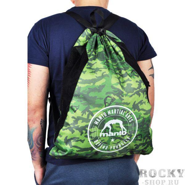 Спортивный мешок Manto Green Camo MantoСпортивные сумки и рюкзаки<br>Спортивный мешок Manto Green Camo. Лёгкий спортивный мешок для переноски экипировки. Прекрасно послужит как для походов в спортзал, так и для поездок на отдых и в путешествиях. Отлично подойдет для переноски ги, обуви, одежды, перчаток. Размеры рюкзака: 55 х 45 см Материал: 100% полиэстер.<br>