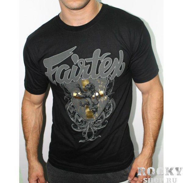 Футболка Fairtex golden crest FairtexФутболки<br>ФУТБОЛКА FAIRTEX GOLDEN CRESTМатериал - 100% хлопок. Удобно одевать и на тренировки и в повседневной жизни.<br><br>Размер INT: M