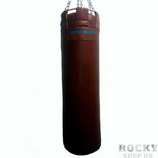 Боксерский мешок TOTALBOX серия Proffi, кожа экстра класса, 35?120 см, 55 кг AquaboxСнаряды для бокса<br>Материал: натуральная кожа (КRS-EXTRA);Наполнитель: пенорезиновые гранулы/текстильное волокно;Подвесная система - карабин, цепи, кольцо разъемное;Цвет: светло-коричневыйДиаметр - 35 см; высота - 120 см; вес - 55 кг<br>Диаметр снаряда увеличился всего на 5 сантиметров (в сравнении с 30-сантиметровыми мешками), а на массе это отразилось самым решительным образом: рабочий вес снаряда – 55 кг. И это при высоте всего в 120 сантиметров! Незаменимый тренажёр для любого уважающего себя боксёра. Неотъемлемая часть любого профессионального спортивного клуба, где оттачивают своё мастерство представители любых видов единоборств с применением ударной техники. Отличный выбор для тренера и спортсмена, если вы хотите добиться серьёзных результатов на ринге.<br>