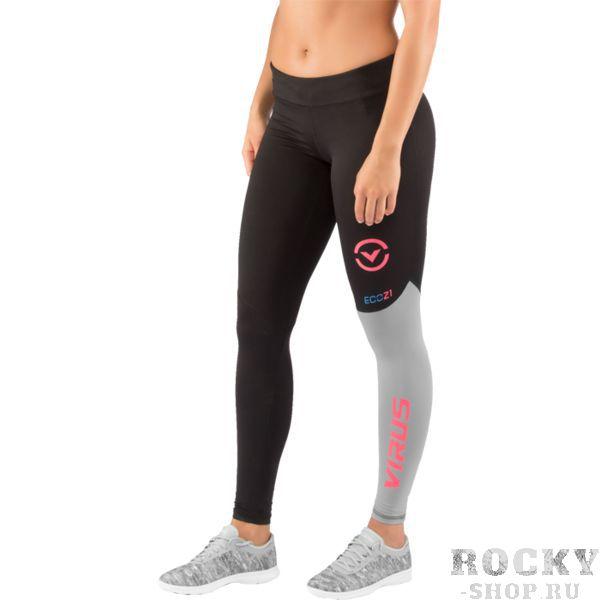 Женские компрессионные штаны Virus Stay Cool VirusСпортивные штаны и шорты<br>Компрессионные штаны Virus Stay Cool. Женские компрессионные тренировочные штаны серии Stay Cool были разработаны на основе последних исследований компании Virus. Миллионы микроканальцев и ткань с добавлением нефрита обеспечивают комфортную температуру и умеренную влажность вашего тела. COOL JADE – это технология, созданная для того, чтобы снизить температуру кожной поверхности при наиболее высоких температурах. Результат применения этой технологии – снижение температуры тела на 2 градуса. Все дело в использовании стружки нефрита! Этот минерал используется в ювелирном деле уже несколько веков и не наносит ни малейшего вреда коже. Могут использоваться как под одеждой, так и без нее. Хорошо подходят для тренировок в зале и для уличных тренировок. Уход: машинная стирка в холодной воде, деликатный отжим, не отбеливать.<br><br>Размер INT: S