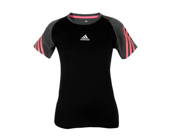 Купить Футболка женская Start Short Tee Speedline Adidas черно-красная (арт. 15961)
