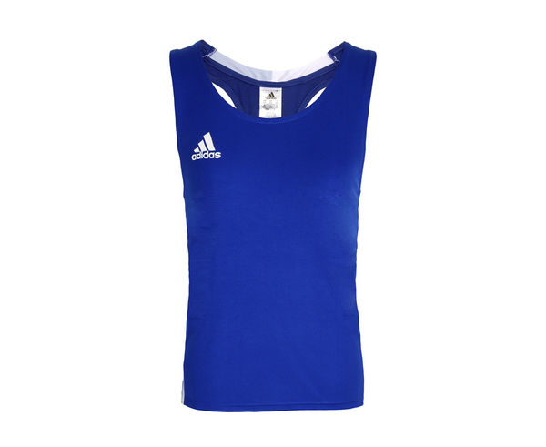 Майка боксерская AIBA Competition Boxing Tank, Синяя Adidas