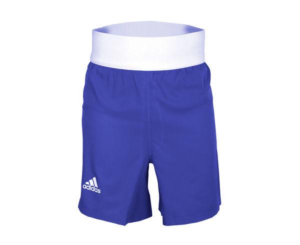 Шорты боксерские AIBA Competition Boxing Short, Синие AdidasШорты для бокса<br>Шорты боксерскиеadidas AIBA, стандарт Олимпийской боксерской формы. Удобные боксерскиешорты из мягкой 100% полиэстера,который эффективно отводит влагу от тела во время тренировки, а такжеобладает абсорбирующими свойствами и быстро высыхает. Благодаря высокопрочному материалу, шорты будут служить долго и выглядеть как новые. Свободный крой не стесняет движений и позволяет эффективно отрабатывать технику. Материал:100% полиэстерЭластичная резинка на шортах отлично держится и не доставляет дискомфорт. Классический вариант формы для занятий боксомСвободный покройМягкий и легкийматериалСтандарт для выступленийУдобная силиконовая полоска на шортах чтобы майка не выпадала из шорт.<br><br>Размер INT: L