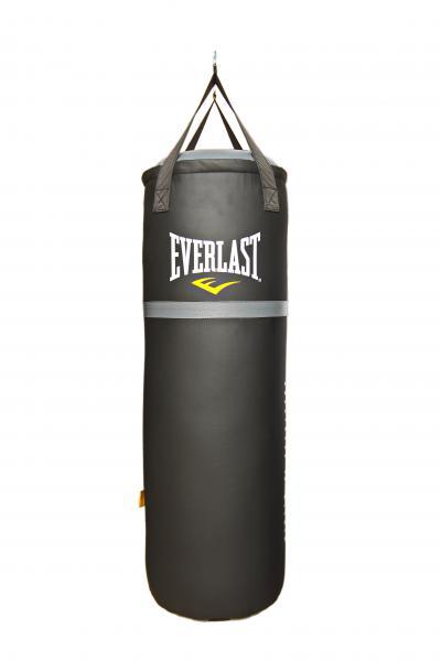 Мешок Everlast 100 30кг, 100*35см, черн. EverlastСнаряды для бокса<br>Боксерский мешок классический EVERLAST. Отличный, недорогой вариант для дома. Мешок сделан из высококачественной синтетической кожи, капсула, наполненная под давлением специально смешанным наполнителем.<br>