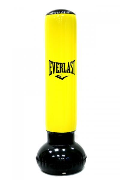 Боксерский надувной мешок Everlast Power Tower  EverlastСнаряды для бокса<br>Everlast Power Tower - это оригинальный спортивный снаряд для всей семьи. Благодаря этой надувной груше, вы сможете повысить свою координацию, ловкость и выносливость, отточить рефлексы, сжечь лишние калории, да и просто сбросить стресс. Особенно по вкусу она придется детям, которые смогут дать выход своей энергии и изрядно повеселиться без риска получить травму. Спорт может быть забавным, особенно вместе с Everlast Power Tower!Особенности:Водоналивное основание с установленной защитой от протечек. Высота 62 дюйма (около 158 см), что подойдет для спортсмена любого роста. В набор входит ножной насос. При необходимости просто и компактно складывается. Изготовлен из крепкого пластика (ПВХ).<br>