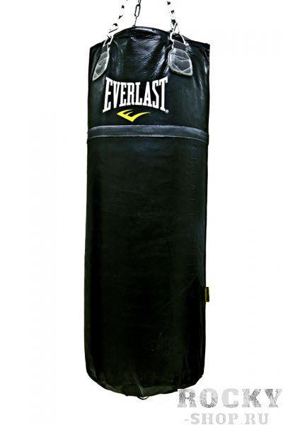 Купить Мешок боксерский Everlast Super Leather 125lb 55кг, 120*35 см (арт. 1612)