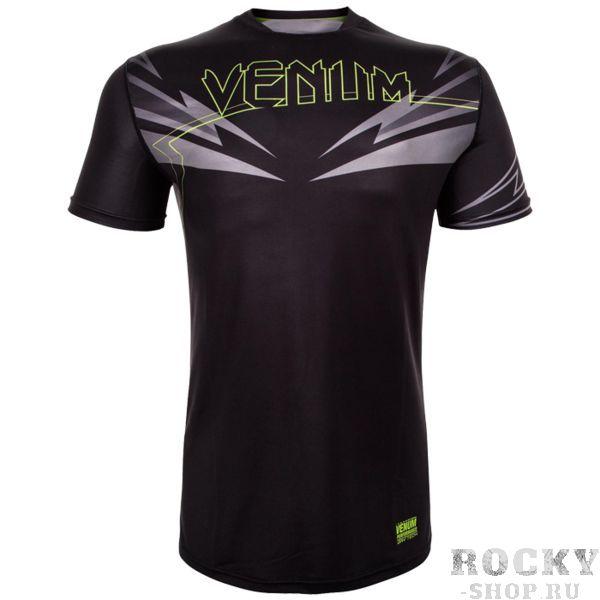 Тренировочная футболка Venum SHARP 3.0 VenumФутболки<br>Тренировочная футболка Venum SHARP 3. 0. Новая футболка Sharp от VENUM специально создана для того, чтобы сражаться не только против спарринг-партнера, но и против природных явлений. Стретчевый материал не сковывает движения и обеспечивает комфорт во время тренировок любого уровня интенсивности. Неважно, какая погода на улице – она не помешает Вам сфокусироваться на тренировке. Легкая ткань из полиэстера и эластана, а также сетчатые панели позволяют Вам сохнуть быстрее. Специальная бесшовная конструкция обеспечивает комфорт для Вашей кожи. Система Dry Tech впитывает пот, благодаря чему Ваше тело остается свежим во время тренировок Рисунки сублимированы в ткань. Состав: 100% полиэстер.<br><br>Размер INT: M