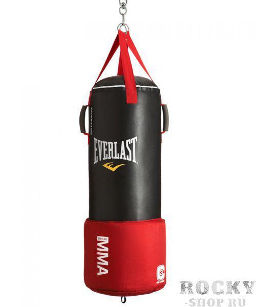 Мешок боксерский Everlast Omnistrike (36кг, 33*92) EverlastСнаряды для бокса<br>MMA Omnistrike Heavy Bag - это единственный в своем роде мешок с оригинальным дизайном, который позволит вам предельно разнообразить технику и получить полную отдачу от тренировки. Нижняя треть мешка покрыта слоем пенистого наполнителя C3 Foam™, что позволит вам отработать низкие удары ногами и даже технику ground and pound. Специальные ручки для захвата в верхней части помогут в отработке тайского клинча и ударов коленом. Продуманный дизайн MMA Omnistrike Heavy Bag вкупе с качественным кожезаменителем и технологией Nevatear™ обеспечивают высокий запас долговечности и долговечности.<br>