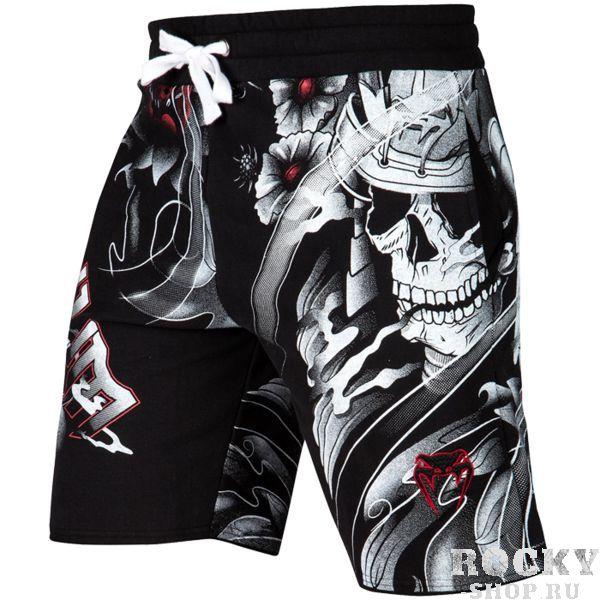 Шорты Venum Samurai Skull VenumСпортивные штаны и шорты<br>Прогулочные шорты Venum Samurai Skull. Легкие шорты, которые подойдут для повседневных прогулок, для бега и занятий в фитнес клубе. По бокам шорт присутствуют карманы. А так же присутствует карман на задней части шорт. Уход: машинная стирка в холодной воде, деликатный отжим, не отбеливать. Состав: 95% хлопок, 5% спандекс.<br><br>Размер INT: S