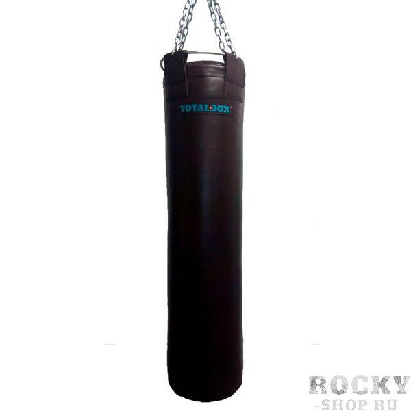 Боксерский мешок TOTALBOX серия Elite Proffi, кожа, 30?150см, 55кг AquaboxСнаряды для бокса<br>Материал: натуральная кожа (КRS-LUXE);наполнитель: пенорезиновые гранулы/текстильное волокно;подвесная система - карабин, цепи, кольцо разъемное;цвет: темно-коричневыйдиаметр - 30 см; высота - 150 см; вес - 55 кг<br>