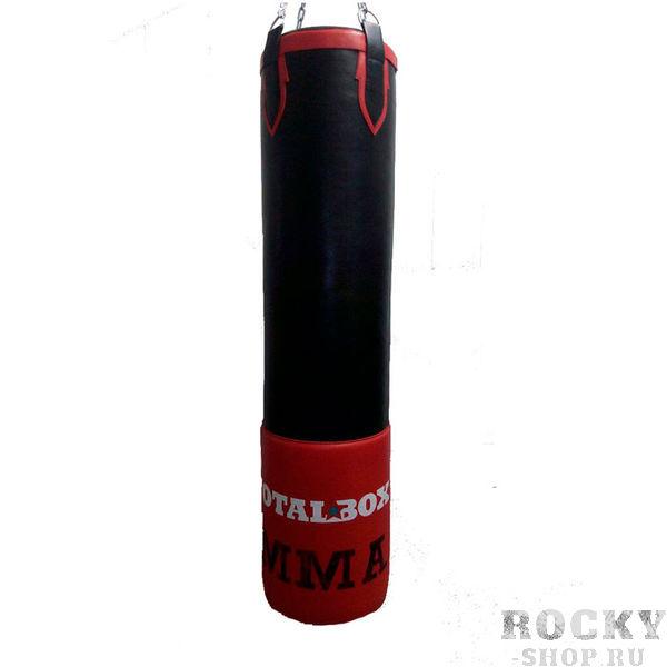Боксерский мешок Totalbox MMA с гелевым слоем, 75 кг, 35х150 см AquaboxСнаряды для бокса<br>Материал: натуральная кожа двух видов. Размеры: высота 150 см, диаметр 35 см. Вес: 75 кг. Набивка: текстильные волокна, пенорезиновые гранулы. Система подвеса: цепи, карабин. . <br>Мешок идеально подходит для тренировок бойцов смешанных единоборств. Двухкомпонентная набивка из специальных текстильных волокон и облегченных гранул пенорезины делает мешок мягким и легким сверху – для отработки ударов руками, и более тяжелым снизу, а «гелевая» 10ти миллиметровая наружная вставка, зашитая в дополнительный слой натуральной кожи, позволяет комфортно чувствовать себя при ударах коленями и ногами. Усиленные двойным слоем кожи и специальной стропы пришивные элементы системы подвеса – гарантируют «долгую жизнь» изделия, а кроме этого, придают ему особый шарм<br>
