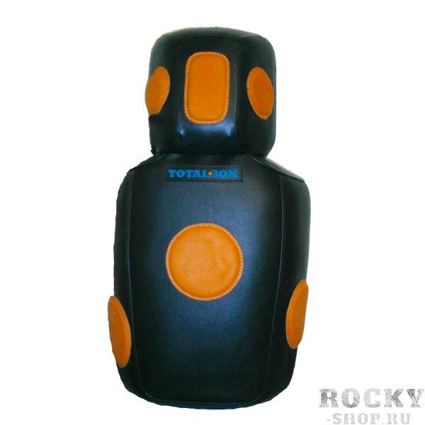 Подушка боксерская TOTALBOX манекен, 50х85х20/30 AquaboxСнаряды для бокса<br>натур. кожа (KRS/KRS-LUXE);цвет: черный с оранж. /коричнев. ;наполнитель: ПВВ, изолон, поролон;ширина - 50 см; высота - 85 см;толщина - 20 см область корпуса,толщина 30 см - область головы. Вес - 17 кг.<br>