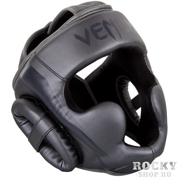Боксерский шлем Venum Elite темно-серый (арт. 16380)  - купить со скидкой