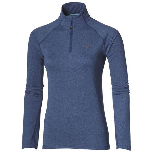 Беговая рубашка Asics 132109 8130 jersey ls 1/2 zip  AsicsТолстовки / Олимпийки<br>Беговая рубашка ASICS 132109 8130 JERSEY LS 1/2 ZIP •Женская спортивная рубашка с длинным рукавом отлично подойдет для занятия бегом. •Данная модель выполнена из высококачественного материала, в состав которого входит полиэстер и эластан. •Материал имеет отличные вентиляционные свойства и хорошо отводит лишнюю влагу. •Короткая молния обеспечивает дополнительную воздухопроницаемость.<br><br>Размер INT: L