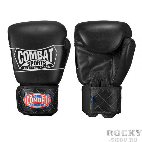 Перчатки боксерские тренировочные, липучка, 16 oz CombatБоксерские перчатки<br>Предварительно согнутая вид уменьшает напряжение на кисть. <br> Широкий ремешок на запястье гарантирует надежную фиксацию. <br> Регулируемый обхват предплечья для быстрого и легкого снятия и надевания.<br><br>Цвет: Чёрные