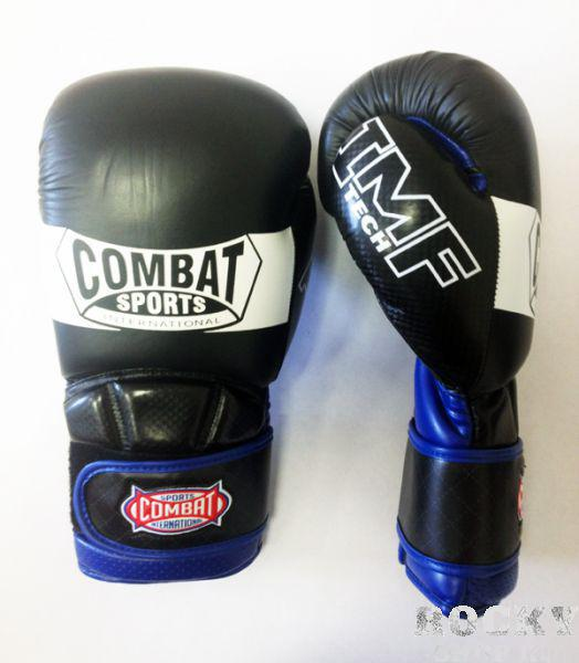 Перчатки боксерские тренировочные, липучка, 16 oz CombatБоксерские перчатки<br>Изготовлены по инновационной технологии в разработке наполнителей перчаток IMF Tech. Пена наивысшей плотности более чем 2 дюйма толщиной придает наивысшую защиту рук боксера. <br> Натуральная кожа гарантирует наивысшую долговечность и непревзойденно долгий срок эксплуатации. <br> Перчатки строго повторяют форму руки, удобны в применении и комфортны.<br><br>Цвет: Чёрные