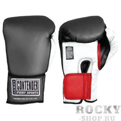 Перчатки боксёрские тренировочные, липучка, черный ContenderБоксерские перчатки<br>первоклассная защита, обеспечиваемая вследствие наполнителю из формованной пены<br> комфортабельная фиксирование на запястье<br> искусственная кожа<br><br>Размер: Размер L