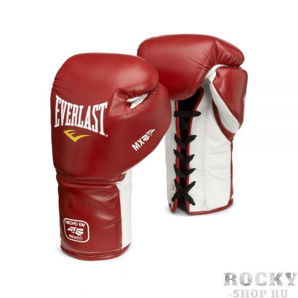 Купить Перчатки боксерские Everlast MX Training на шнуровке 18 oz красный (арт. 1657)
