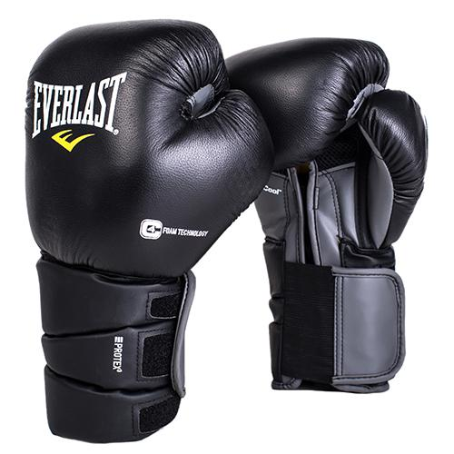 Перчатки боксерские Everlast Protex3, 14 OZ EverlastБоксерские перчатки<br>Боксерские перчатки Protex 3 Hook &amp; Loop Training Gloves одни из самых продвинутых! Абсолютная защита ударной поверхности кулака, позволяет тренироваться в полную силу даже по самым тяжелым мешкам. Анатомическая манжета с пенным наполнителем гарантирует наилучшую защиту предплечья. Снабжены сменным эластичным чехлом, который предотвращает травмы во в ходе занятий спортом. Натуральная премиальная кожа гарантирует самую высокую защиту и увеличивает время службы перчаток. Идеальны для спаррингов, работы по мешкам и лапам.<br>