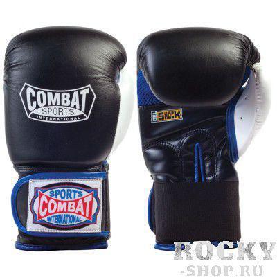 Перчатки тренировочные, липучка Combat чёрные (арт. 171)  - купить со скидкой