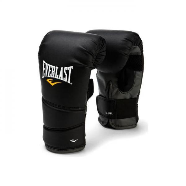 Перчатки снарядные Everlast  Protex2 EverlastCнарядные перчатки<br>Боксерские перчатки Protex 2 Heavy Bag Gloves:Мелкая перфорация по всей ладони обеспечивает сухость и прохладу. Новый облегченный дизайн без большого пальца. Высококачественная синтетическая кожа гарантирует самую высокую долговечность и износостойкость.<br><br>Размер: S/M