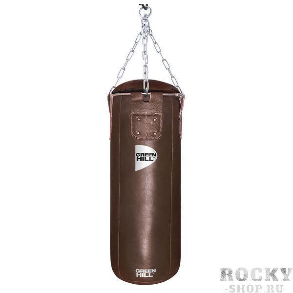Боксерский мешок Green Hill Retro, двойная кожа, 70 кг, 180*35cм Green HillСнаряды для бокса<br>Профессиональный боксерский мешок Green Hill с технологией набивки Heavy Shell. Боксерские мешки компании Green Hill наполняются регенерированным волокном с помощью пресса с контролем давления. Чтобы регулировать вес и баланс, вдоль оси всего мешка установлены песочные гильзы. Благодаря своим свойствам такое волокно не сбивается в комки, не проседает вниз мешка и не высыпается. Технология внутреннего шва мешка такова, что он выдерживает максимальную нагрузку при ударе. Техника прострочки и швейный материал образуют максимально прочное соединение. <br>Высота мешка 180 см<br><br>Диаметр мешка 35 см<br><br>Вес набитого мешка 70 кг<br><br>Материал верха: Натуральная кожа толщиной 2,5мм<br><br>Наполнитель: Регенированное волокно, песочные гильзы<br><br>Тип подвесной системы : Цепь<br>