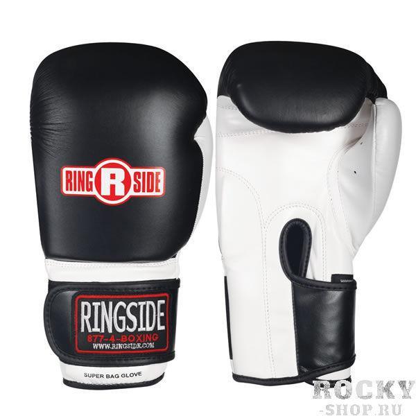 Перчатки снарядные, Чёрный / белый RINGSIDECнарядные перчатки<br>Плотный пенистый наполнитель<br> Крепление липучка<br> Пришитый большой палец<br> Материал - 100% кожа<br><br>Размер: Размер M