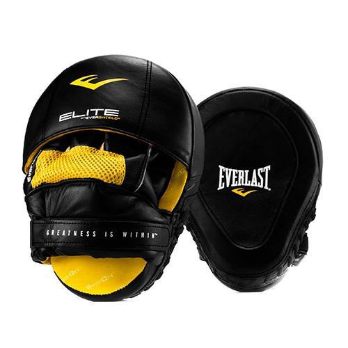 Боксерские лапы Everlast Elite, Черные Everlast (P00000700 BK)