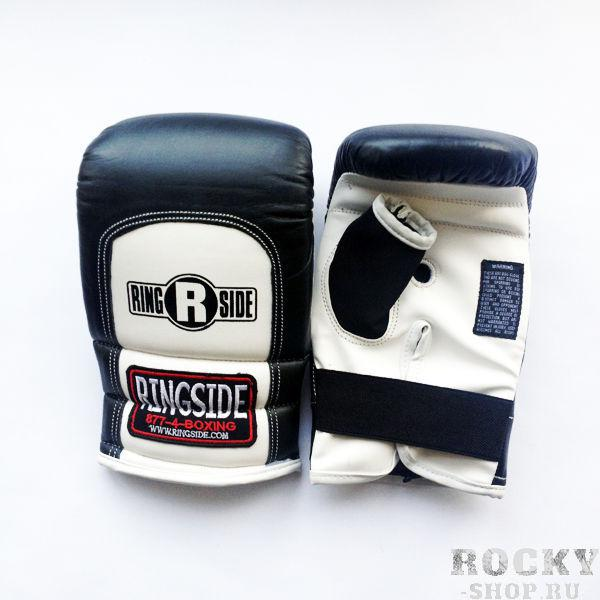 Перчатки снарядные, резинка, Черный/белый RINGSIDECнарядные перчатки<br>Мягкий слой гарантирует полную защиту руки и невесомый вес перчаток. <br> Multi-слой пены<br> Полное покрытие перчатки<br> Мягкая кожа<br> Легкий вес<br><br>Цвет: Размер XL