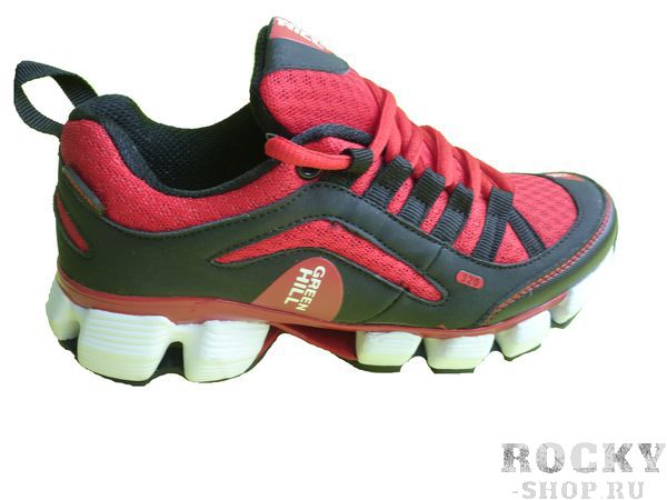 Кроссовки Green Hill, черные с красным Green HillКроссовки<br>Модель изготовлена из качественного материала практичной расцветки. Подходят как для занятий спортом, так и для повседневной носки. Материал: искусственная кожа, синтетическая сетка.<br><br>Размер INT: 36
