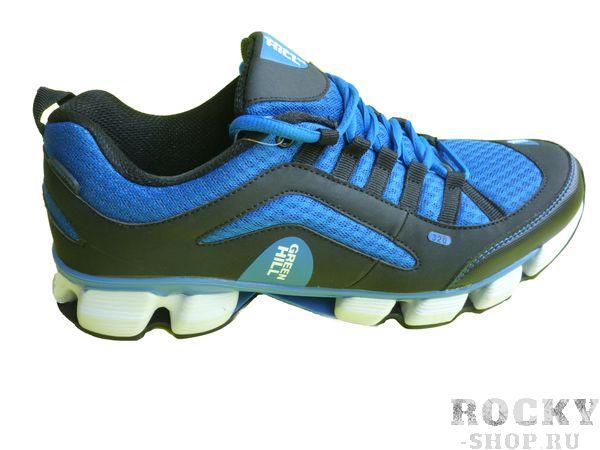 Кроссовки Green Hill, черные с синим Green HillКроссовки<br>Модель изготовлена из качественного материала практичной расцветки. Подходят как для занятий спортом, так и для повседневной носки. Материал: искусственная кожа, синтетическая сетка.<br><br>Размер INT: 40