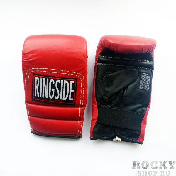 Перчатки снарядные, резинка, Красный/черный RINGSIDECнарядные перчатки<br>Мягкий слой гарантирует полную защиту руки и невесомый вес перчаток. <br> Multi-слой пены<br> Полное покрытие перчатки<br> Мягкая кожа<br> Легкий вес<br><br>Цвет: Размер L