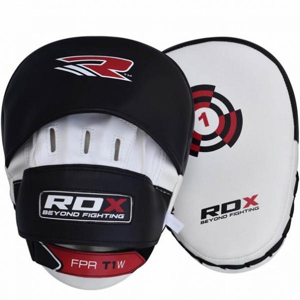 Лапы RDX White/Black With Strap RDXЛапы и макивары<br>Лапы RDX White/Black With StrapСочетание высоких технологий и традиционных материалов обеспечивают комфорт и повышенную долговечность.<br>