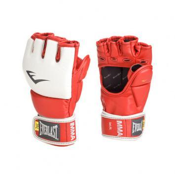 Перчатки MMA Everlast Pro Grappling, SM EverlastПерчатки MMA<br>Тренировочные перчатки для проработки захватов. Ключевые особенности:Кожа наивысшего качества вкупе с наилучшим дизайном обеспечивают износостойкость и функциональность. Идеально повторяет все анатомические изгибы кистиЗащита большого пальца состоит из двух секций для большей свободы, строчки на ладони намного укреплены. Обмотки с застежкой на липучке позволяют кастомизировать перчатки по вашей руке, а также обеспечивают самую высокую фиксацию предплечья.<br><br>Цвет: красный