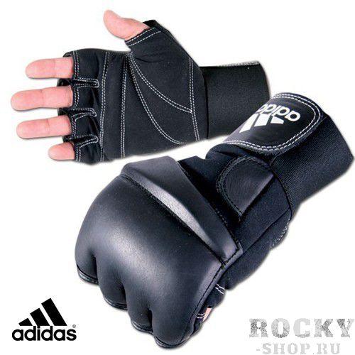 Шингарты ADIDAS SPEED AdidasCнарядные перчатки<br>Шингарты Adidas Speed - это снарядные перчатки с обрезанными пальцами. Снарядные перчатки используются для работы по мешкам и лапам. Они обладают повышенной устойчивостью к изнашиванию. Не предназначены для спарринга, т. к. слишком травмоопасны для противника. Ударная часть пошита из натуральной кожи, что увеличивает срок службы перчаток. Ладонь пошита из искусственной кожи. Крепление на двух липучках надежно фиксирует запястье. Чтобы выбрать снарядные перчатки необходимо измерить обхват ладони сантиметровой лентой в наиболее широком месте, исключив при этом большой палец руки:Размер S M L XL Обхват ладони, см 17-18 18-19 19-22 23-27<br><br>Размер: SM