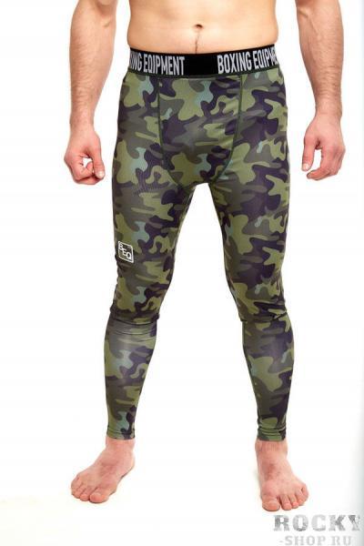 Штаны компрессионные BEQ камуфляж , зеленые BEQКомпрессионные штаны / шорты<br>Комфортные компрессионные штаны для занятий любым видом спорта<br><br>Размер INT: L