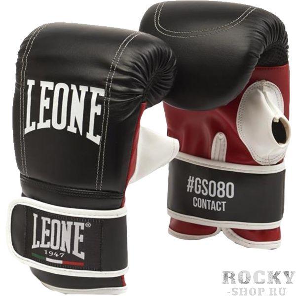 Снарядные перчатки Leone Contact LeoneCнарядные перчатки<br>Классические боксерские перчатки-битки Leone Contact. Снарядные перчатки-блинчики из натуральной кожи. Пена-наполнитель великолепно защитит ваши суставы рук при работе на боксерских мешках и грушах. Перчатки очень удобно сидят. Усиленная отстрочка швов. На внутренней части перчаток сделана вентиляционная часть для естественного теплоотвода.<br><br>Размер: M
