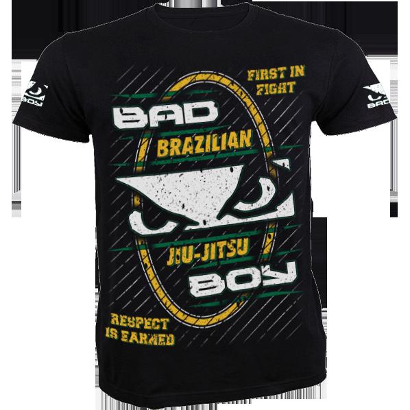 Футболка Bad Boy Brazilian Jiu Jitsu Bad BoyФутболки / Майки / Поло<br>Футболка Bad Boy Brazilian Jiu Jitsu. Обладает высокой теплопроводностью, воздухопроницаемостью и гигроскопичностью, что позволяет коже дышать. Модель свободного кроя с короткими рукавами и круглым вырезом горловины. Уход: машинная стирка в холодной воде, деликатный отжим, не отбеливать. Состав: 100% хлопок. Сделано в Бразилии.<br><br>Размер INT: M