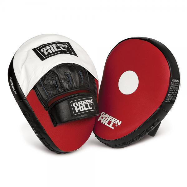 Боксерские лапы Green Hill azimut Green HillЛапы и макивары<br>Гнутые боксерские лапы из натуральной кожи.<br>